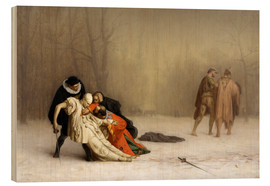 Wood print  The Duel After the Masquerade - Jean Leon Gerome