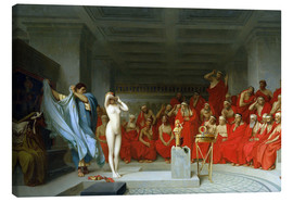 Canvas  Phryne before the Areopagus - Jean Leon Gerome