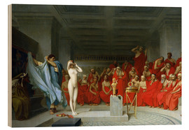 Wood print  Phryne before the Areopagus - Jean Leon Gerome