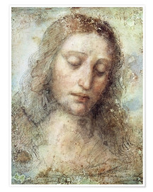 Premium poster  Head of Christ - Leonardo da Vinci
