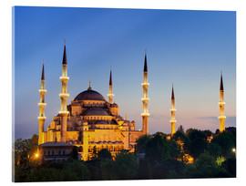 Acrylic print  Blue Mosque at twilight - Circumnavigation