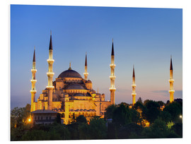 Foam board print  Blue Mosque at twilight - Circumnavigation