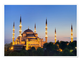 Premium poster  Blue Mosque at twilight - Circumnavigation
