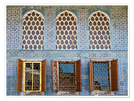 Premium poster  Islamic windows of the Topkapi palace - Circumnavigation