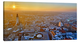 Canvas print  Sunset over Leipzig - Marcel Schauer