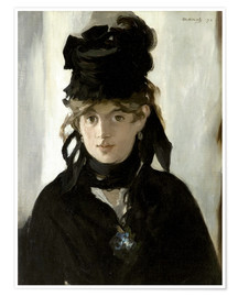 Premium poster  Berthe Morisot with a Bouquet of Violets - Edouard Manet