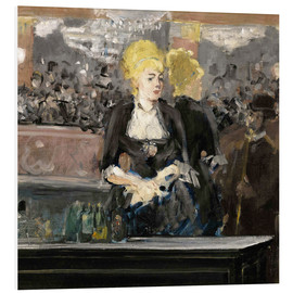 Foam board print  Bar at the Folies Bergère - Edouard Manet