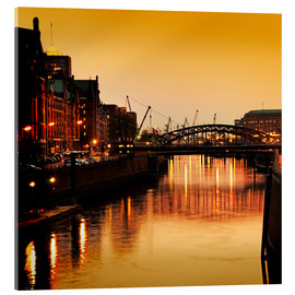 Acrylic print  Hamburg harbor sunset - bildpics