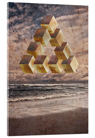 Acrylic print  Optical illusion on the sea - Dieter Ziegenfeuter