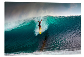 Acrylic print  Extreme surfing huge wave - Mentawai Islands - Paul Kennedy