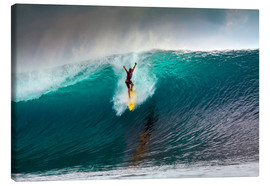 Canvas  Extreme surfing huge wave - Mentawai Islands - Paul Kennedy