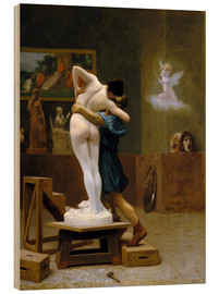 Wood print  Pygmalion and Galatea - Jean Leon Gerome