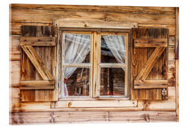 Acrylic print  Window of alps cabin, South Tyrol (Italy) - Christian Müringer
