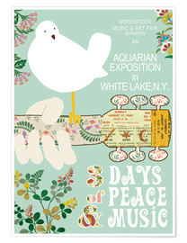 Premium poster  Woodstock collage - GreenNest