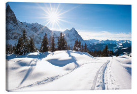 Canvas print  Winter scenery at Grindelwald - Peter Wey