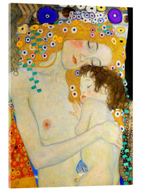 Acrylic glass  Mother and Child (detail) - Gustav Klimt