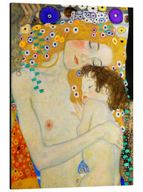 Aluminium print  Mother and Child (detail) - Gustav Klimt