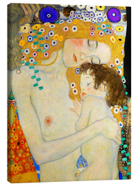 Canvas print  Mother and Child (detail) - Gustav Klimt