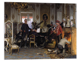 Foam board print  A Billet outside Paris - Anton Alexander von Werner