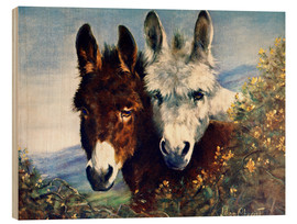 Wood print  The Wise Ones (Donkeys) - Lilian Cheviot