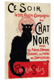 Foam board print  Chat Noir (Black Cat - French) - Théophile-Alexandre Steinlen