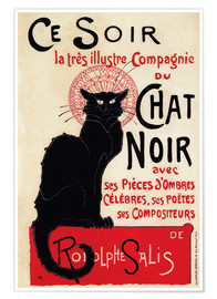 Premium poster Chat Noir (Black Cat - French)