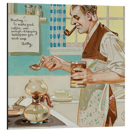 Aluminium print  Good Coffee - Joseph Christian Leyendecker