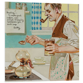 Foam board print  Good Coffee - Joseph Christian Leyendecker