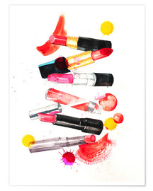 Premium poster Lipstick collection