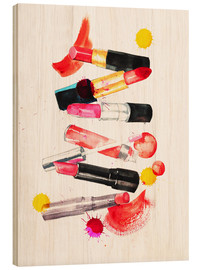 Wood print  Lipstick collection - Rongrong DeVoe