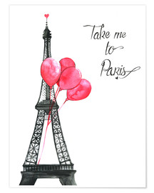 Premium poster  Take me to Paris - Rongrong DeVoe