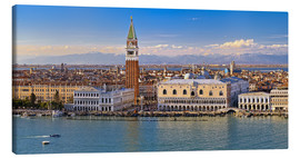 Canvas print  Venice view to the Alps - FineArt Panorama