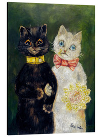 Aluminium print  Cats Wedding - Louis Wain