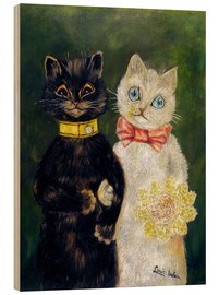 Wood print  Cats Wedding - Louis Wain