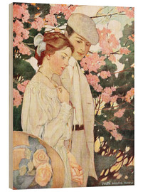 Wood print  Lovers - Jessie Willcox Smith