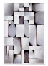 Premium poster  Composition in grey (Rag-time) - Theo van Doesburg