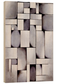 Wood print  Composition in grey (Rag-time) - Theo van Doesburg