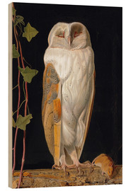 Wood print  The White Owl - William James Webbe