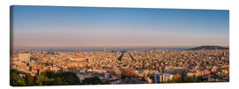 Canvas print  Barcelona panorama - Siegfried Heinrich