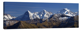 Canvas print  Eiger , Mönch and Jungfrau Panorama - Gerhard Albicker