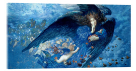 Acrylic print  Night with her train of stars - Edward Robert Hughes