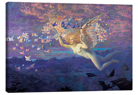 Canvas print  Wings of the Morning - Edward Robert Hughes