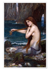 Poster  The mermaid - John William Waterhouse
