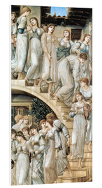 Foam board print  The Golden Stairs - Edward Burne-Jones