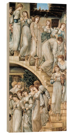 Wood print  The Golden Stairs - Edward Burne-Jones