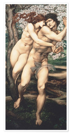Premium poster  The tree of forgiveness - Edward Burne-Jones