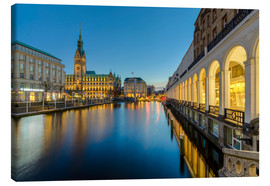 Canvas print  Hamburg Town Hall and Alsterarkaden - Michael Valjak