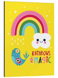 Aluminium print  Rainbows and magic - Kat Kalindi Cameron