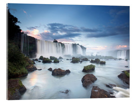 Acrylic print  Dramatic sunset over Iguacu waterfalls - Alex Saberi