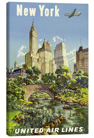 Canvas print  New York United Airlines - Travel Collection